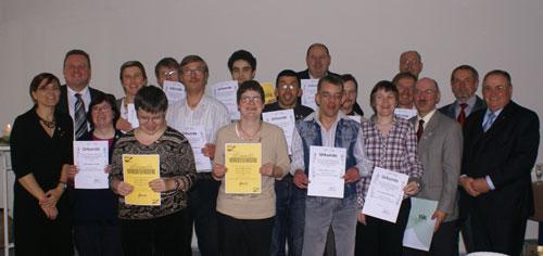 Die geehrten der Behindertenabteilung der DJK Unterbalbach