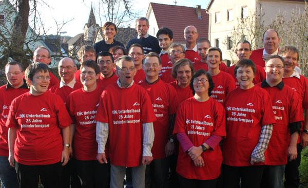Die Behindertenabteilung der DJK Unterbalbach 2010