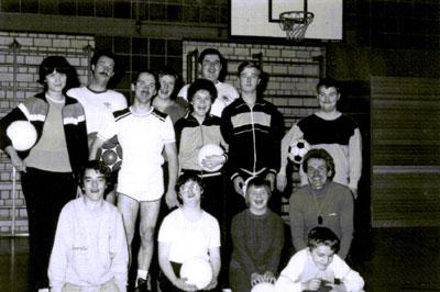 Die Behindertenabteilung der DJK Unterbalbach im 1985