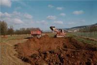 Die Ausgrabungsarbeiten beginnen