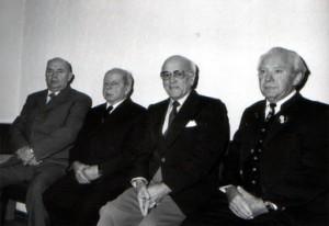 Gottfried Hertrich, Karl Fuchs, Wilhelm Kolb und Hans Roll
